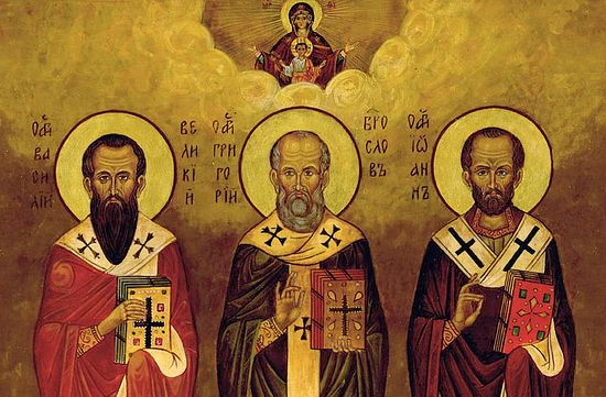 Αποτέλεσμα εικόνας για των Τριών Ιεραρχών, του Μεγάλου Βασιλείου, του Ιωάννη του Χρυσοστόμου και του Γρηγορίου